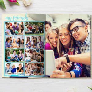 Выпускной альбом для школьников Class Обложка Девочка 11 класс Разворот1